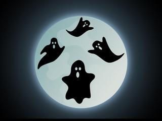 Halloween Geister Hintergrund