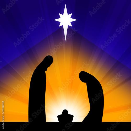 Fotos De Navidad Del Nino Jesus.Escena De Navidad El Nino Jesus Con La Virgen Maria Y Jose