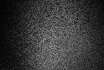 Leather texture closeup for background. Black and white.