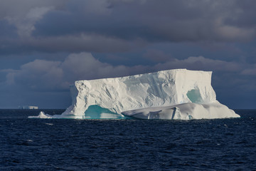Antarctic seascape tabular  with iceberg