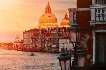 The Grand Canal and the Basilica di Santa Maria della Salute in