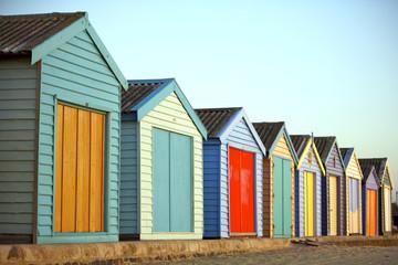 Beach huts in Australia