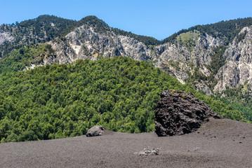 Lava field in Conguillio National Park, Chile