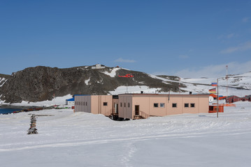 Papiers peints Antarctique Bellingshausen Russian Antarctic research station on King George island