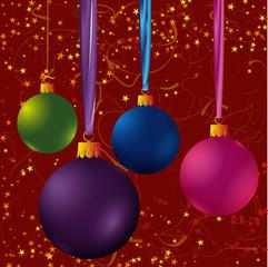 christmas ball vector set.