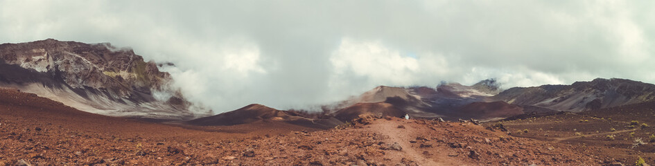 Fog, sand and rock at Haleakala