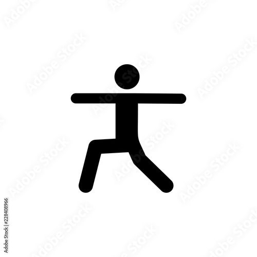 pose, yoga icon  Element of yoga icons  Premium quality
