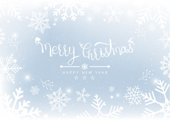Merry Christmas and New Years Blur bokeh of light on background. Vector illustration