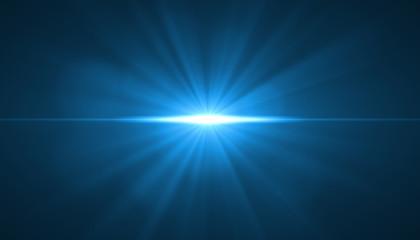 glowing light burst explosion on black background. Vector illustration light effect decoration with...