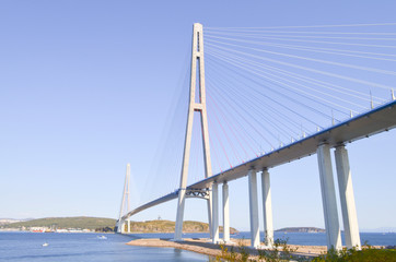 Foto auf Acrylglas Bridges Vladivostok, the Russky bridge