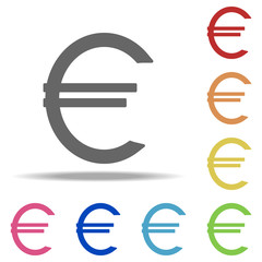 euro sign icon. Elements of banking in multi color style icons. Simple icon for websites, web design, mobile app, info graphics