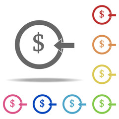 money input icon. Elements of banking in multi color style icons. Simple icon for websites, web design, mobile app, info graphics