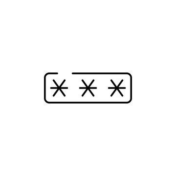 password 2 icon. Element of security icon. Thin line icon for website design and development, app development. Premium icon
