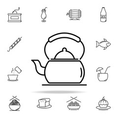 kettle on the stove icon. Food and drink icons universal set for web and mobile