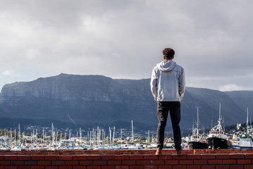 Man exploring Cape Town