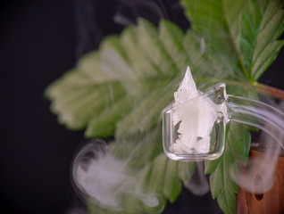 Macro detail of Cannabidiol crystal aka CBD, mediccal marijuana background