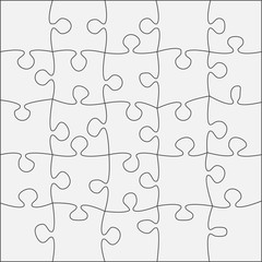 The 25 Grey Outline. Jigsaw Puzzle of Banner.
