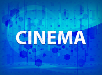 Cinema midnight blue prime background