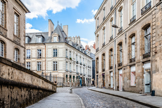 Scenic view of the town of Rennes in France