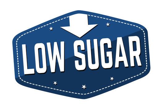 Low sugar label or sticker