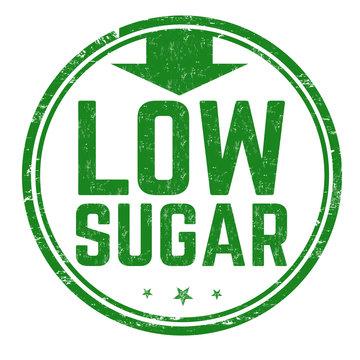 Low sugar sign or stamp