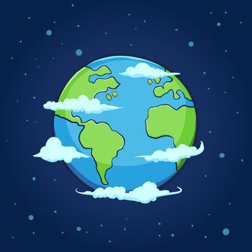 Planet Earth Hand Drawing
