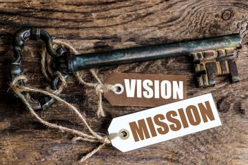 labels key : vision and mission
