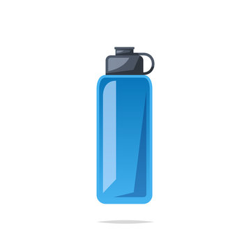 Reusable water bottle vector isolated