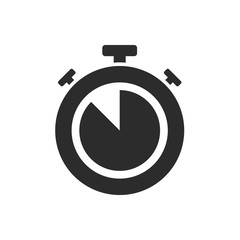Isolated stopwatch icon five to on a white background