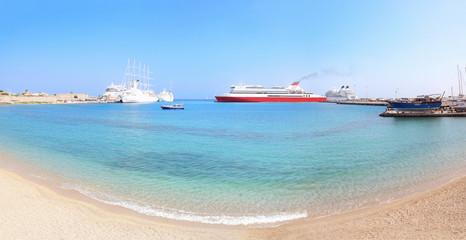 Rhodes harbor, Greece