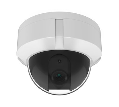 Dome CCTV Security Camera Isolated