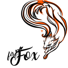 Fox. Vector Logo with Negative Space. Laconic Symbol for Icons, Logos, Badges and Emblems.