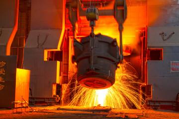 steel mills converter filling materials