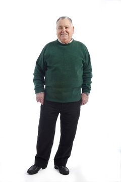Portrait of a mature man full body