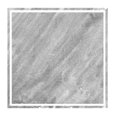 Monochrome hand drawn watercolor rectangular frame background texture with stains
