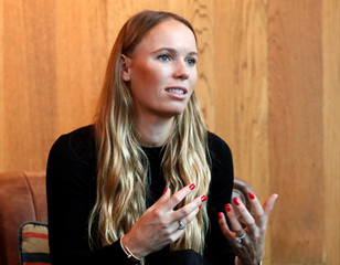 Tennis player Caroline Wozniacki speaks to Reuters after attending a signing ceremony with GCOX Global Crypto Offering Exchange to launch her own cryptocurrency in Singapore