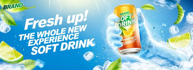 Refreshing soft drink banner ads