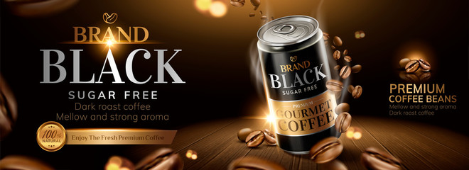 Black coffee banner ads