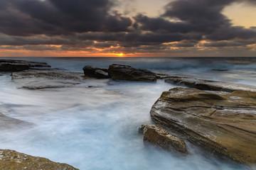 A Moody Sunrise Seascape