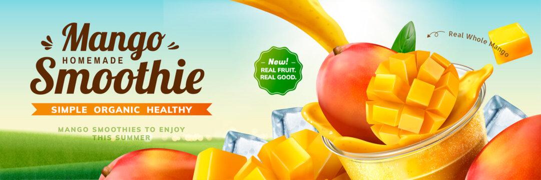 Mango smoothie banner ads