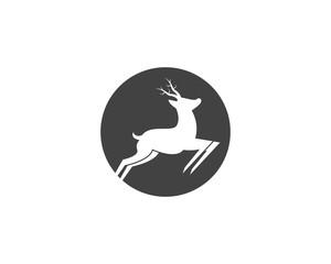 Deer silhouette logo vector