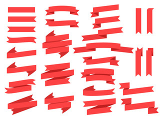 Ribbons and banners vector set
