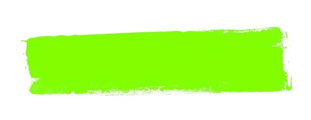 Gemalter breiter Farbstreifen grün