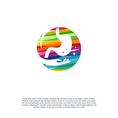 Abstract Colorful Stomach Care logo vector, Health Stomach logo designs template