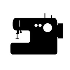 Sewing machine vector silhouette