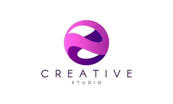 Logo in Sphere Shape. Sphere vector design. Emblem for Media, Fashion, Cosmetics