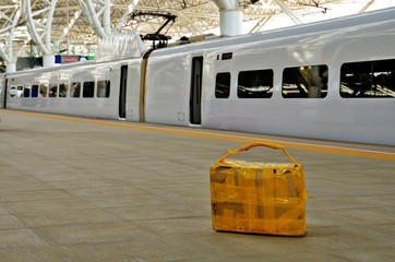 Suspicious Carton package left at railway platform