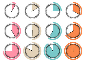 Stopwatches Hand Of A Clock Outline Retro Time
