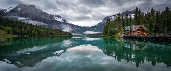 Emerald lake lodge hotel Yoho national park British Columbia Canada