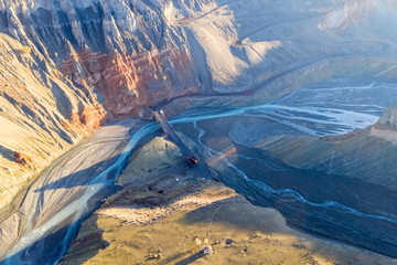 xinjiang anjihai grand canyon closeup